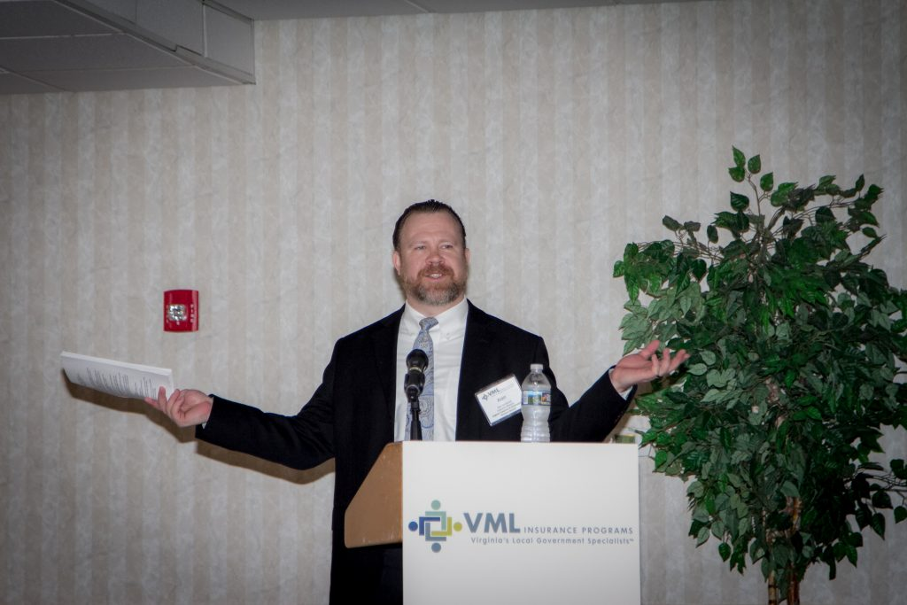 Alan Gernhardt with the Virginia Freedom of Information Advisory Council presents