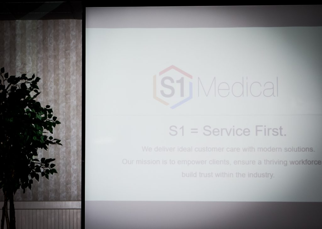 Nicholas Manzi with S1 Medical presents
